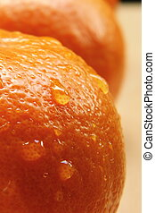 Fresh Navel orange - Close-up of Fresh Navel orange with...