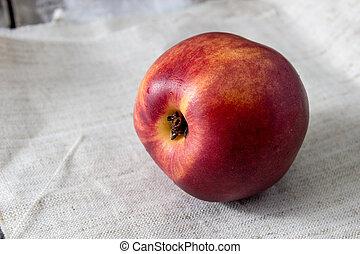 close up of fresh peach