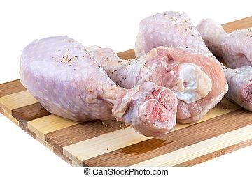 Close up of fresh raw chicken legs