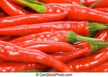 fresh red chili peppers - close-up of fresh red chili ...