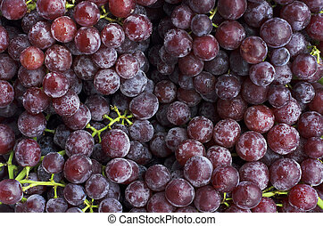 Close up of Fresh Red grape fruits backgrounds above