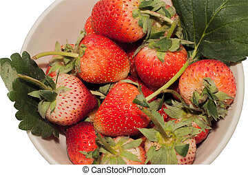 Close up of fresh Red Strawberry in the bowl