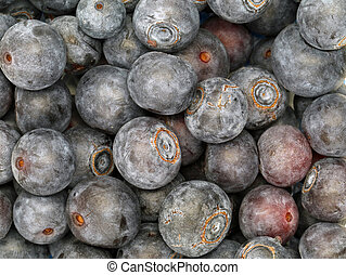 close up of Fresh Ripe Sweet Blueberries, natural background