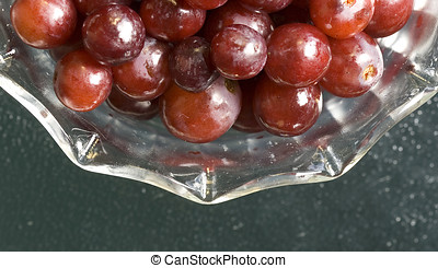 Close up of grapes.