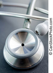 Close up of Gray stethoscope