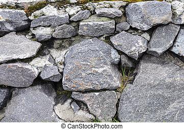 Close up of gray stone border