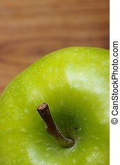 Close up of Green apple - Macro of an appetizing green ...