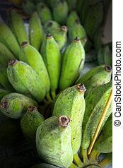 Close-up of green  banana