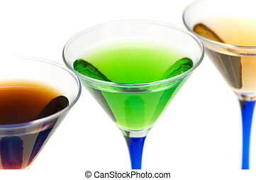 Close up of green cocktail - shallow depth of field