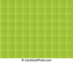 Close up of green glass tile modern