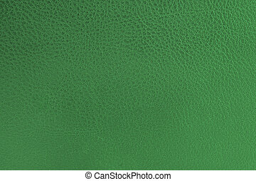 close-up of green leather texture