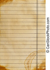 close up of grunge lined paper background