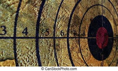 Close up of grunge target