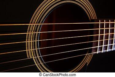 Guitar strings - Close up of Guitar strings