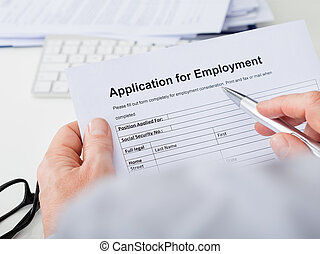 Hand Filling Application For Employment
