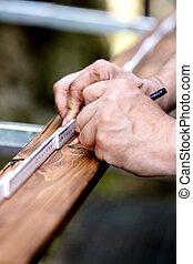 wooden plank is measured