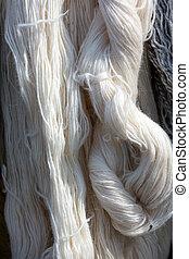 Close up of hank wool