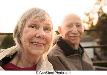 Close Up of Happy Senior Couple