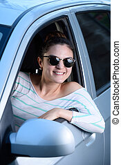 smiling woman driver