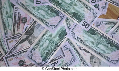 harvesting money from the floor