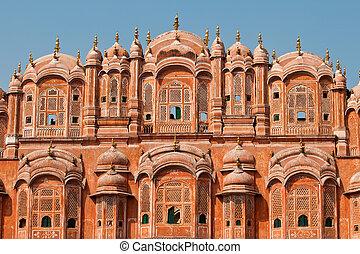 Close up of Hawa Mahal architecture