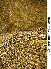 Close up of hay bale