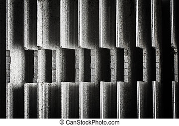 close up of heatsink , abstract background