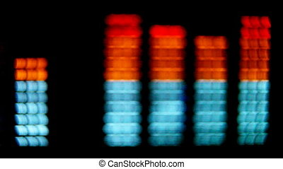 close-up of hifi graphic equalisers shot with canon 5d mk2...