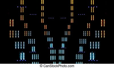 close-up of hifi graphic equalisers shot with canon 5d mk2 video
