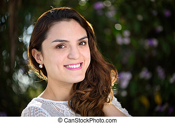 close up of hispanic girl