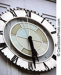 Close-up of Historic Ferry building Clock in San Francisco, ...