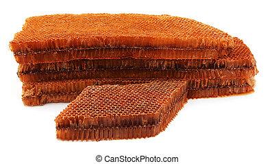 Honey Comb over white background