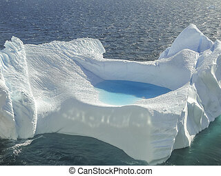 Close up of Iceberg in Antarctica bay