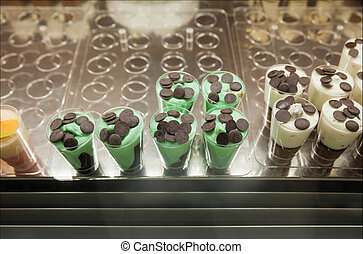Close up of icecream dessert