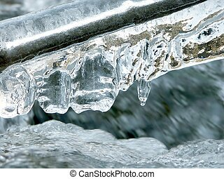 Close up of icicles
