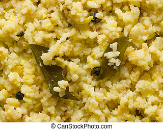 indian pongal - close up of indian pongal food background