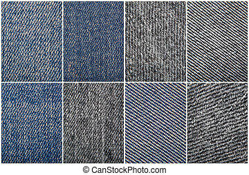Close-Up Of Jeans Texture Background