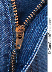 close up of jeans with zipper