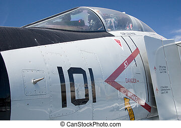 Close-up of Jet Plane Cockpit