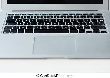 Close up of keys on laptop