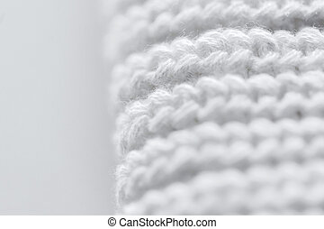 close up of knitted item - handicraft, knitwear and...