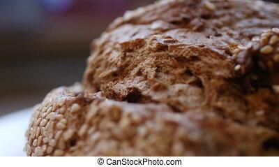 Close up of kulmbacher german bread