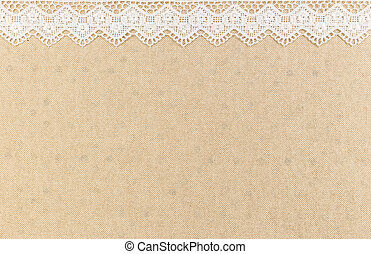 Lace - Close up of Lace flowers frame over Fabric design for...