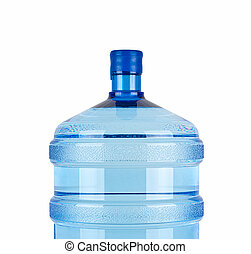 close up of large bottle for pure water
