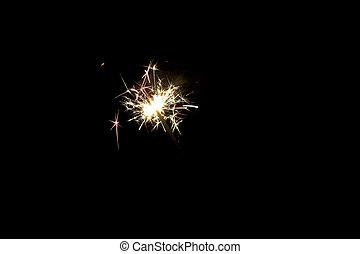 sparkler - Close up of lit up sparkler
