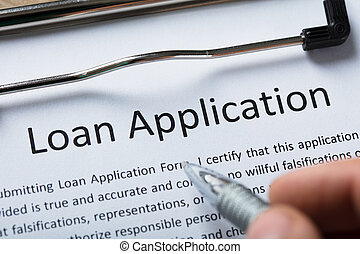 Close-up Of Loan Application Form