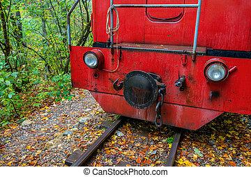 Close-up of locomotive