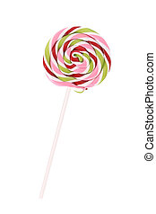 Close up of loli pop candy. Isolated on a white background.