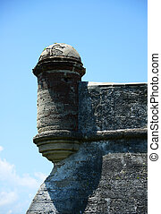 lookout tower - close-up of lookout tower at Castillo de San...