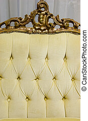 Close-up of luxury sofa